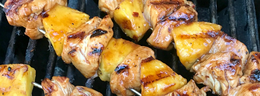 GRILLED CHICKEN PINEAPPLE SKEWERS