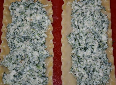 Spinach & Cheese Lasagna Rolls