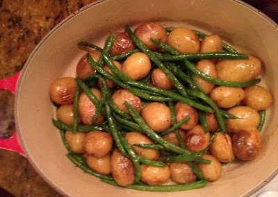 Roasted Baby Potatoes with Fresh Green Beans