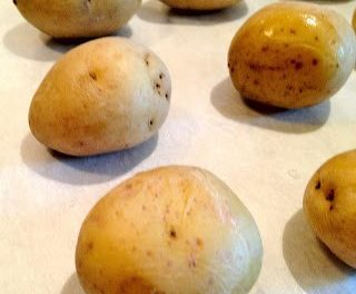 Crushed New Potatoes with Ranch Dressing