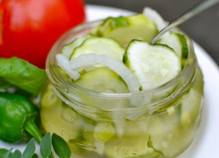 Cucumber and Onion Refrigerator Pickles