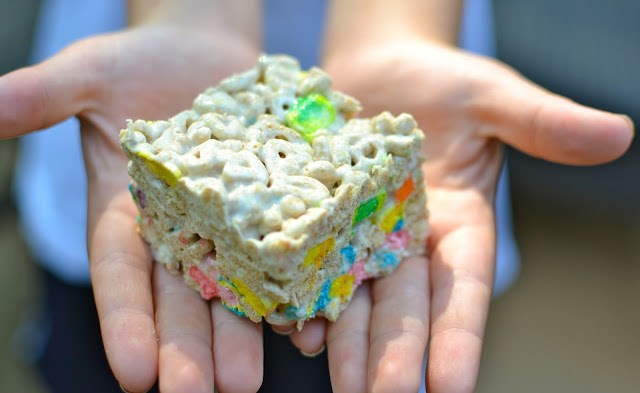 Marshmallow Krispy Treats Used for Bribery!