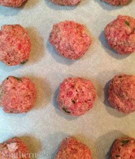 Homemade Meatballs in Marinara Sauce