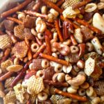slow cooker party mix from a southern soul