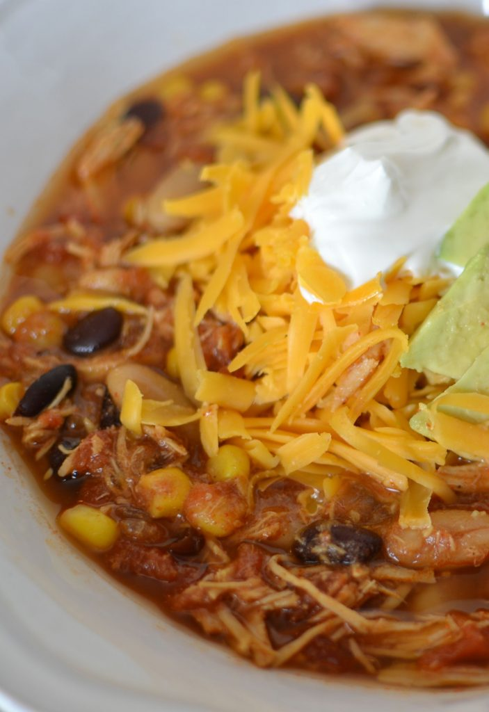 Slow Cooker Taco soup has all the flavors you love in your favorite tacos!