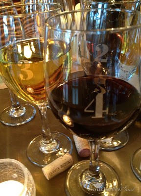 DIY Etched Wine Glasses