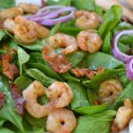 shrimp & spinach salad