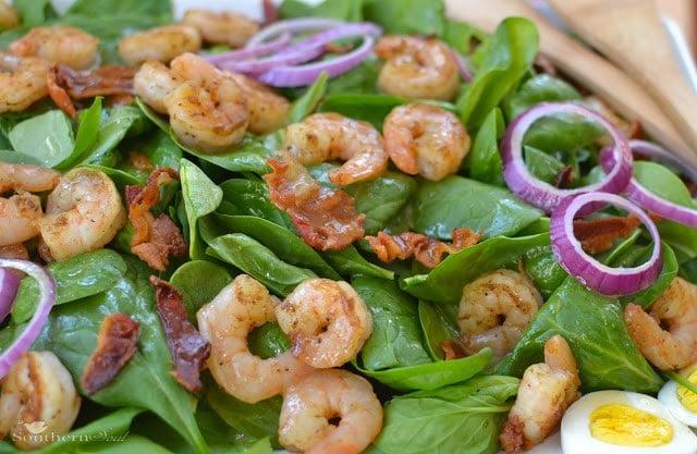 shrimp & spinach salad
