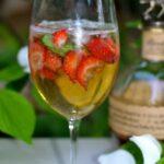 Bourbon Strawberry Spritzer~Cheers!