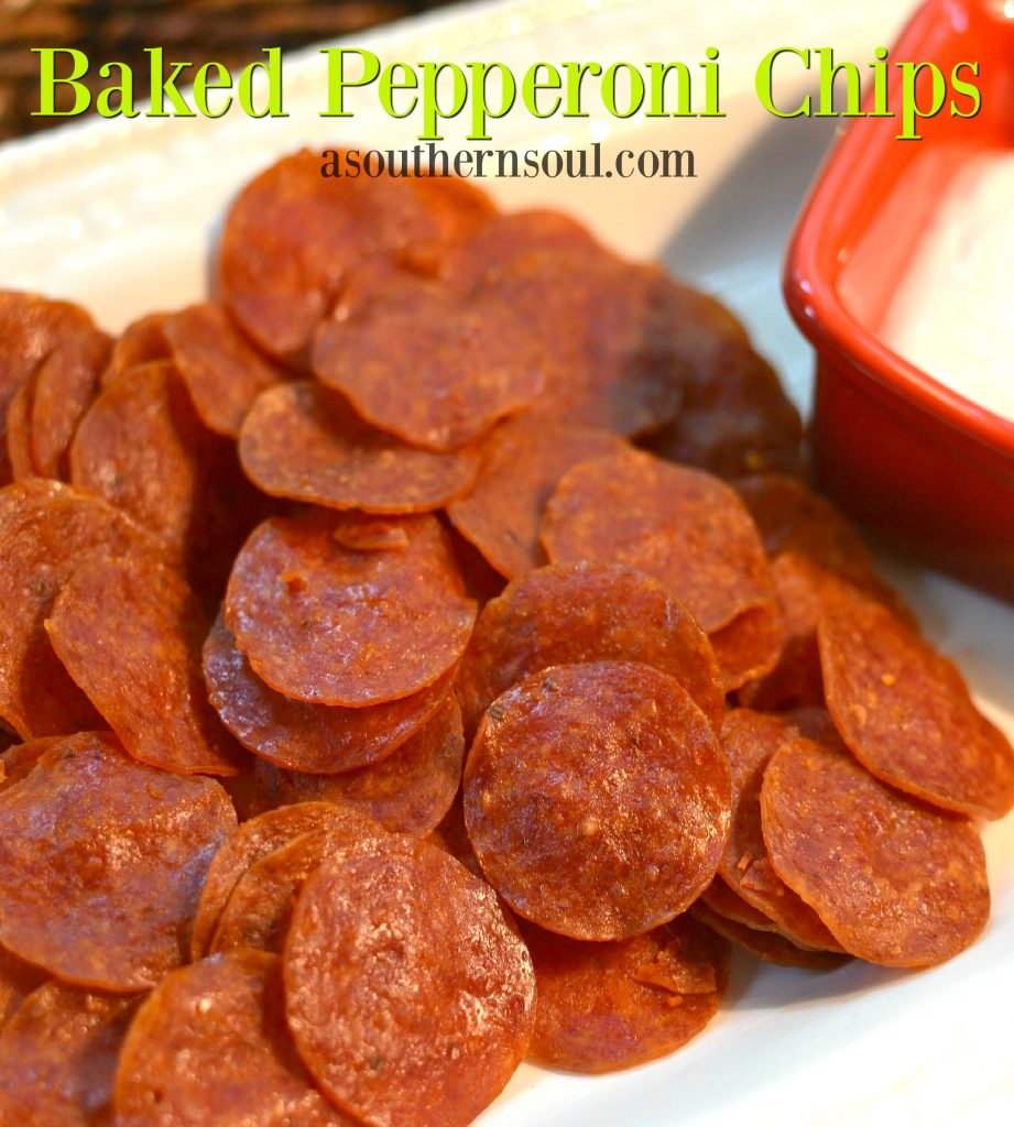 pepperoni chips with dip