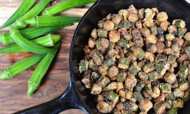 Fried Okra with Sea Salt
