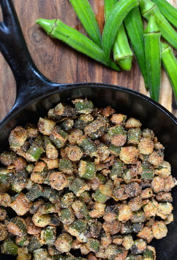 fried okra recipe