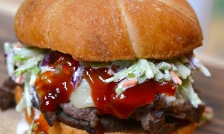 Steak Sandwich with Spicy Ketchup & Broccoli Slaw