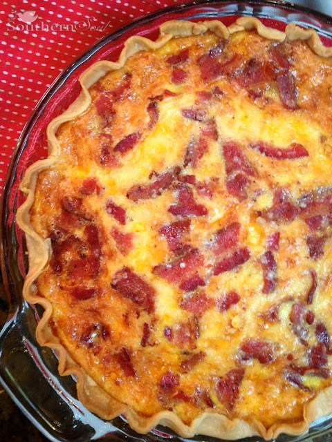Bacon & Cheese Quiche | A Southern Soul