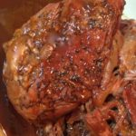 Balsamic Brown Sugar Glazed Pork Roast in the Slow Cooker