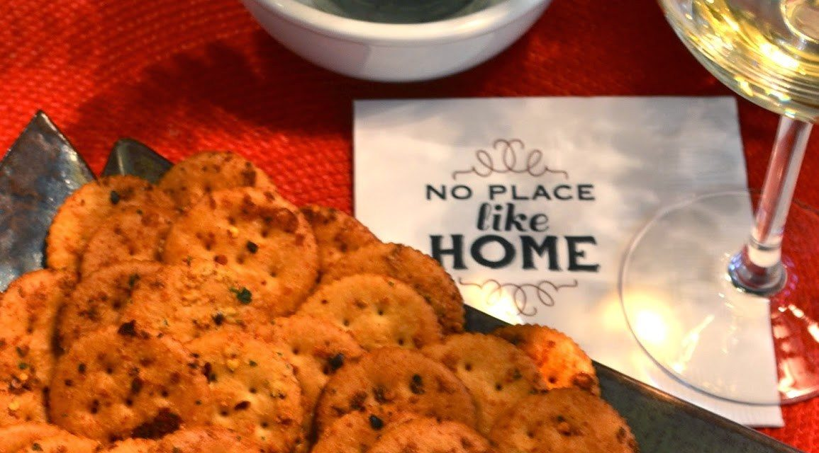 Spicy Baked Herb Crackers