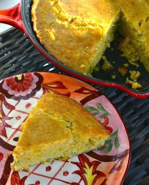 Cheese & Green Chile Cornbread