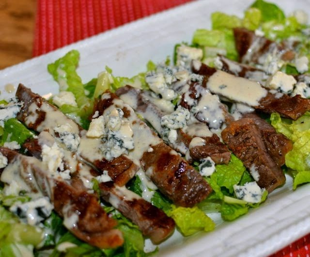 Grilled Steak Salad with Creamy Dressing | A Southern Soul