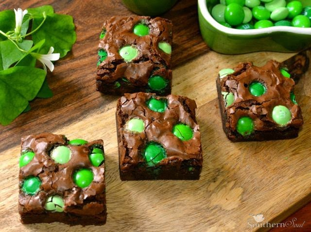 Chocolate Mint Brownies | A Southern Soul