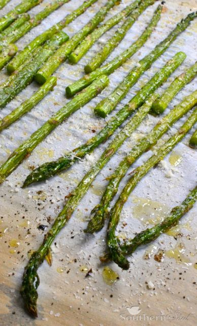 Roasted Asparagus with Parmesan | A Southern Soul