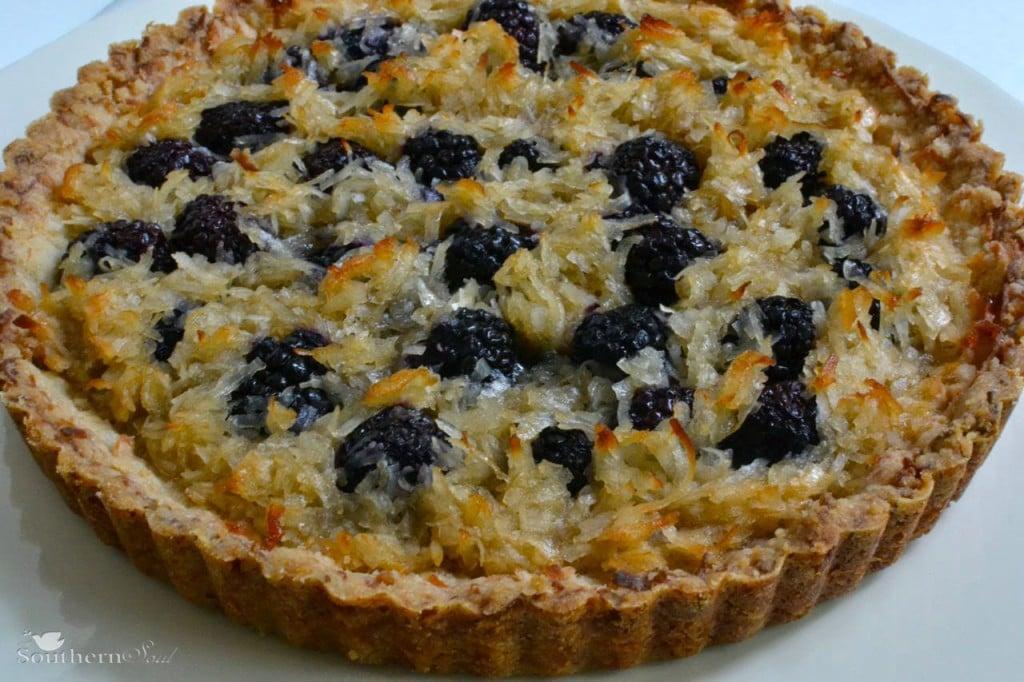 A Southern Soul | Blackberry Coconut Tart