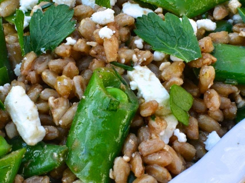 Farro Salad with Peas & Feta