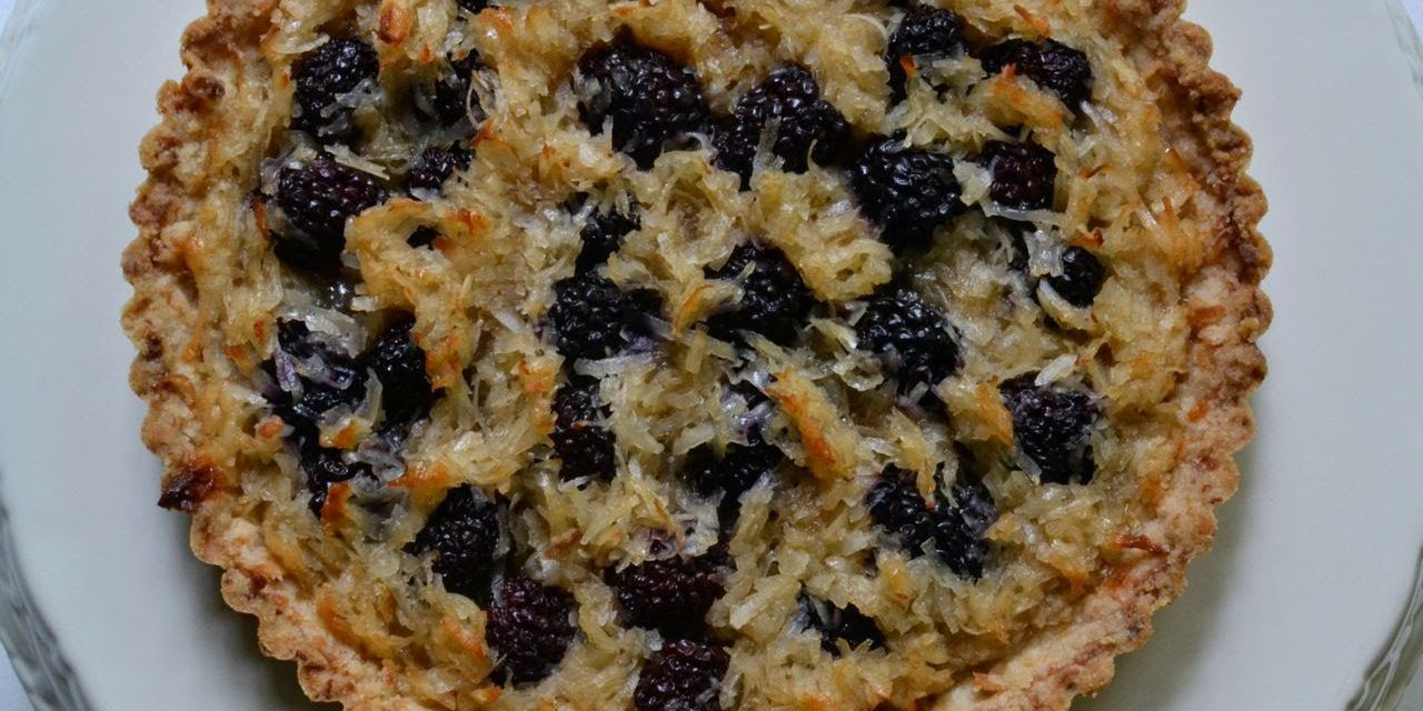 Blackberry Coconut Tart