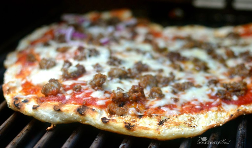 A Southern Soul   Grilled Sausage Pizza