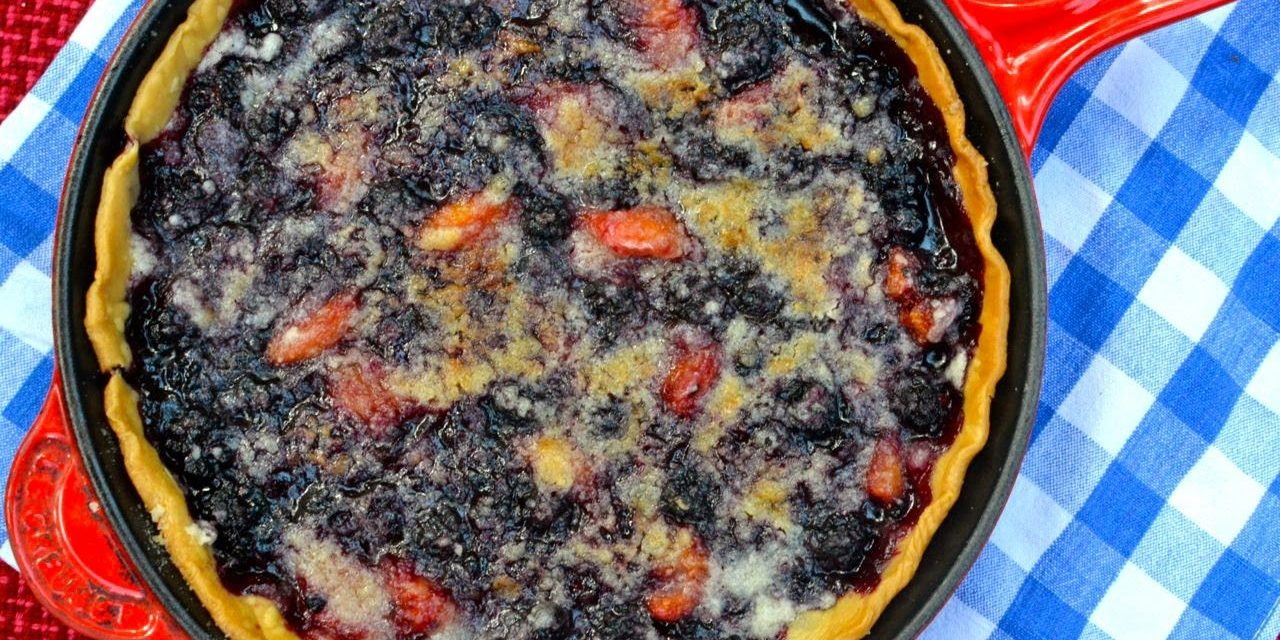 Blackberry Peach Skillet Pie