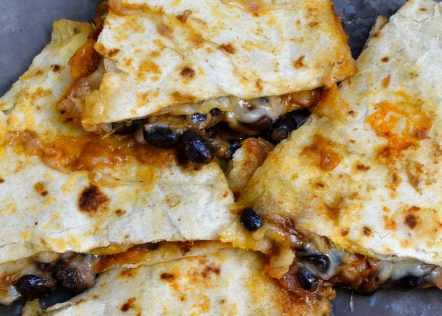 Ham & Black Bean Quesadillas
