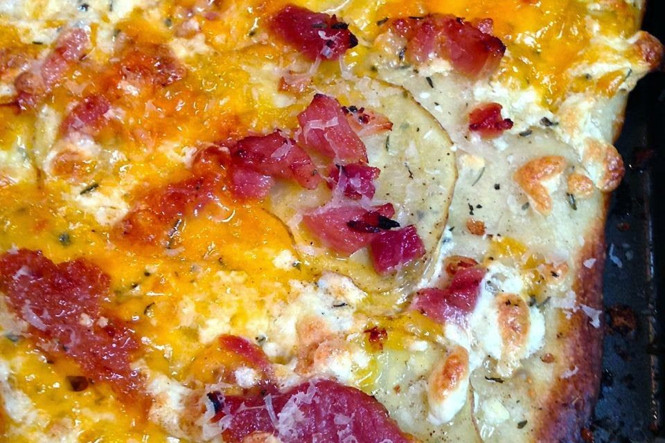 Ham Potato & Cheese Pizza