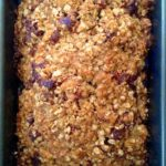 oatmeal banana bread with cranberries