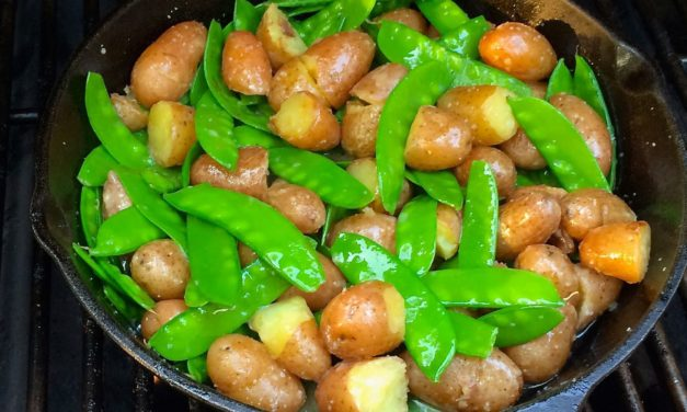 Grill Roasted Peas & Potatoes