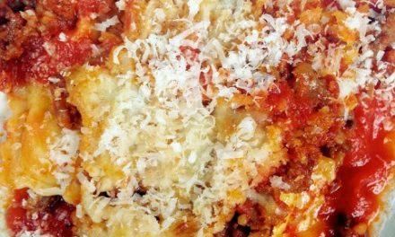 Italian Sausage Ravioli Bake