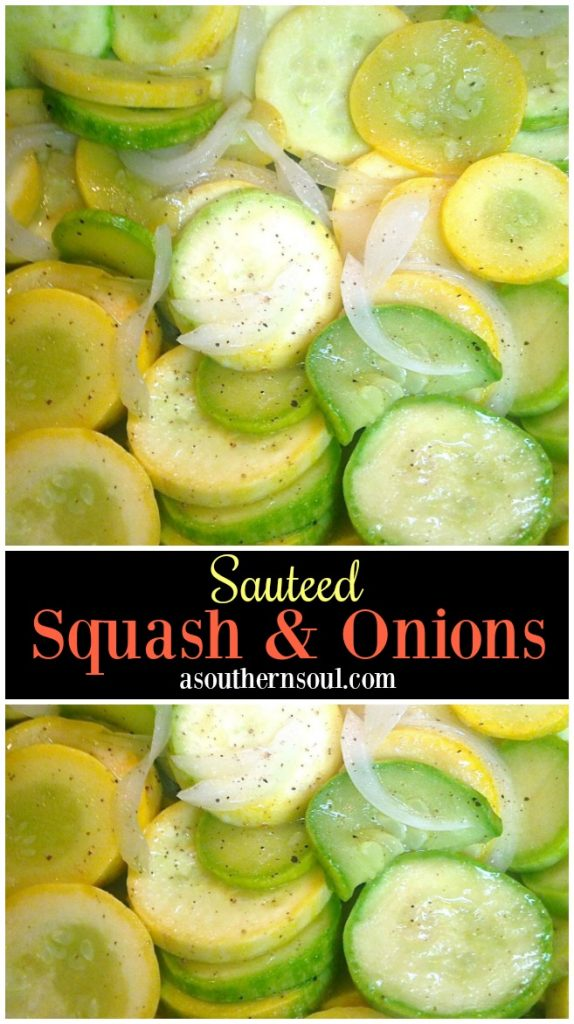 ender yellow squash and Vidalia onion sauteed in butter with just the right seasoning is one of summer's best dishes!