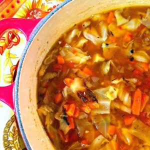 amazing roasted cabbage soup