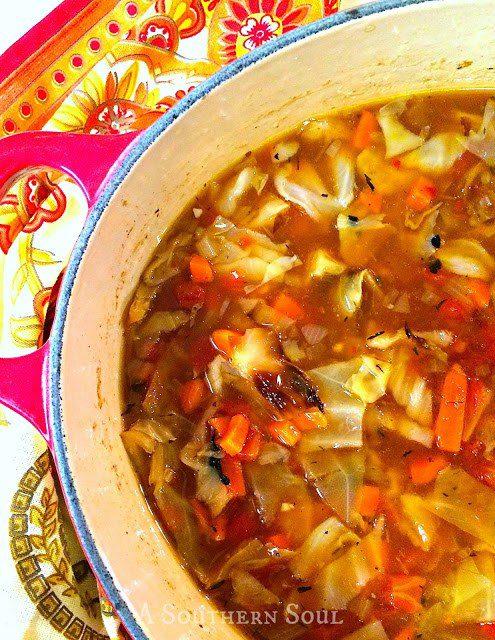 Amazing Roasted Cabbage Soup