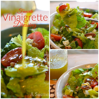 fresh salad for a crowd and vinaigrette dressing recipe