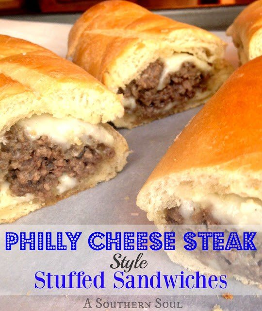 Philly Cheese Steak Style Stuffed Sandwich