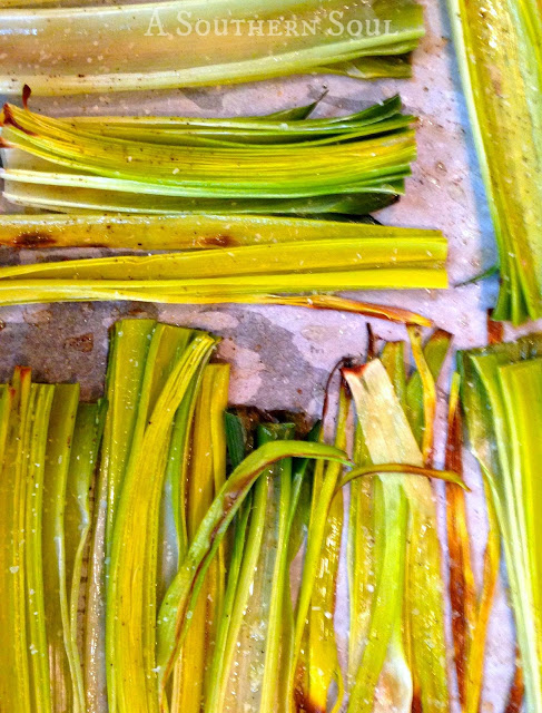 A Southern Soul | Oven Roasted Leeks