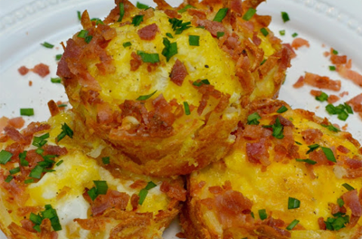 Bacon & Egg Hash Brown Nests | Cookbook Giveaway