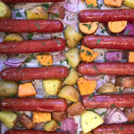Sheet Pan Brats & Potatoes