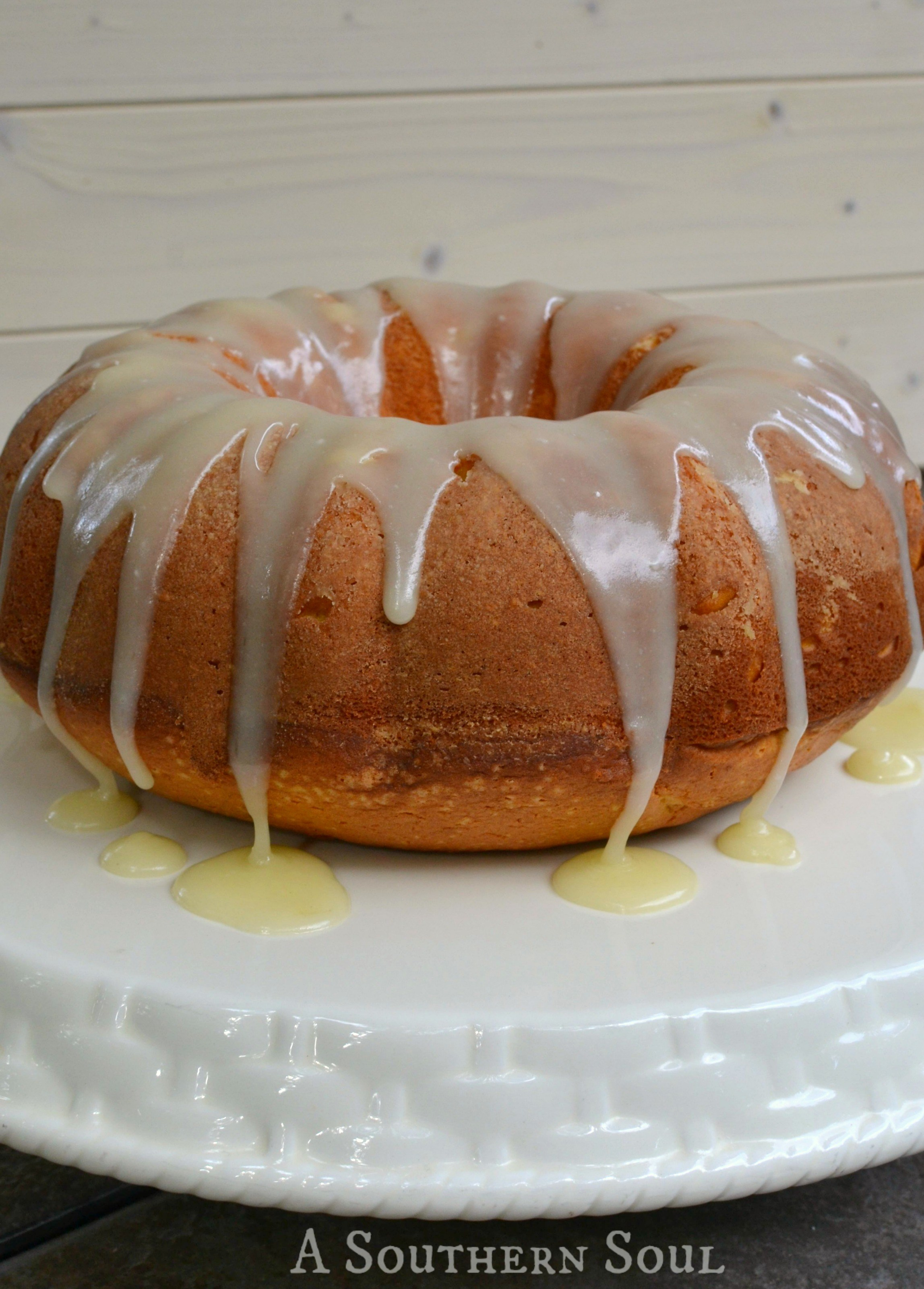 Pumpkin cinnamon cake with brown butter glaze