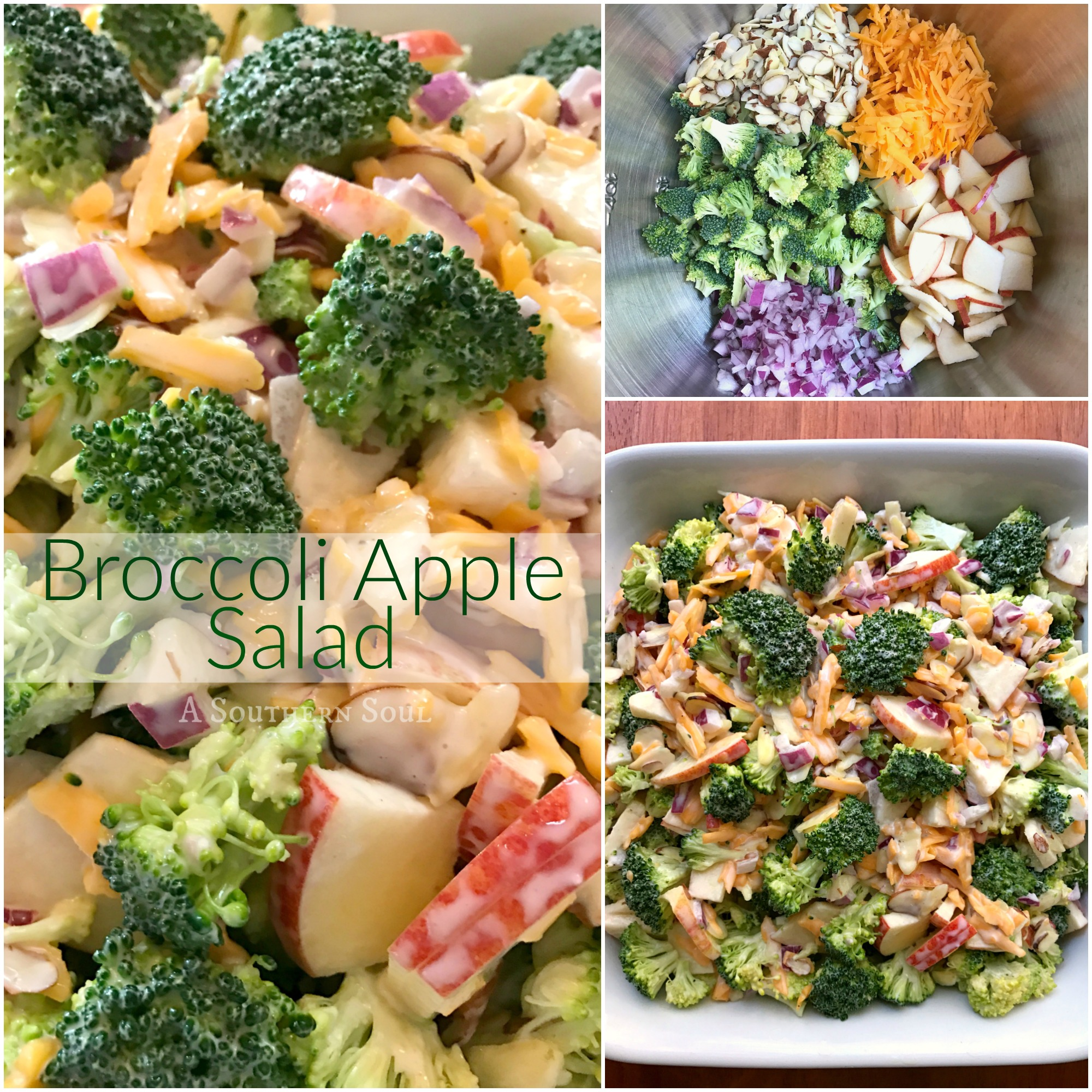Broccoli Apple Salad trio