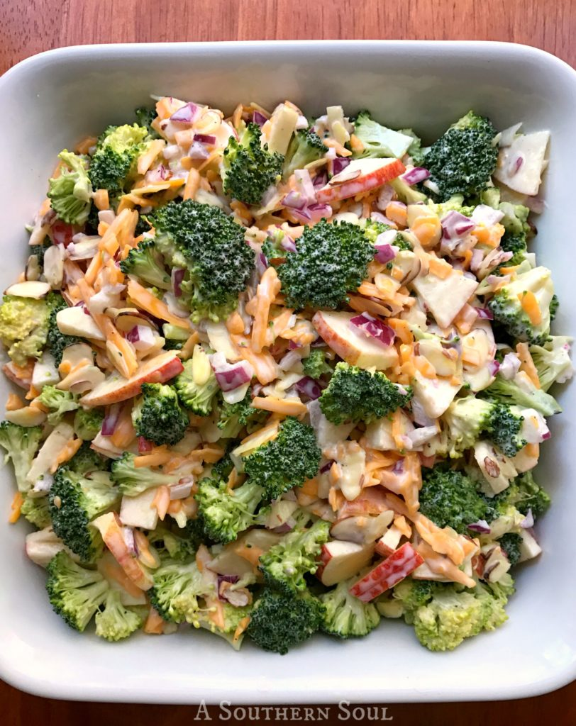 Broccoli Apple Salad in bowl
