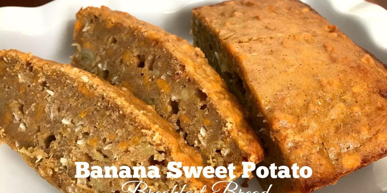 Banana Sweet Potato Breakfast Bread