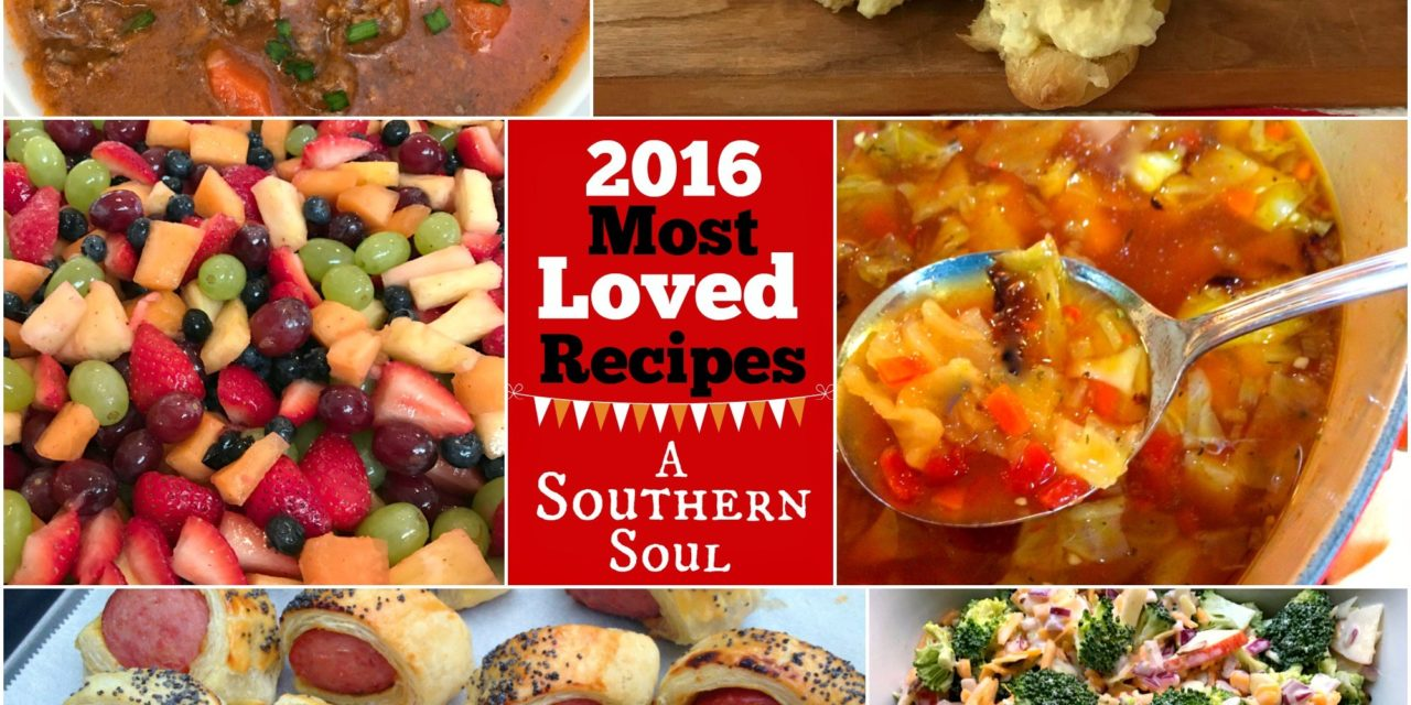 MOST Loved Recipes from 2016