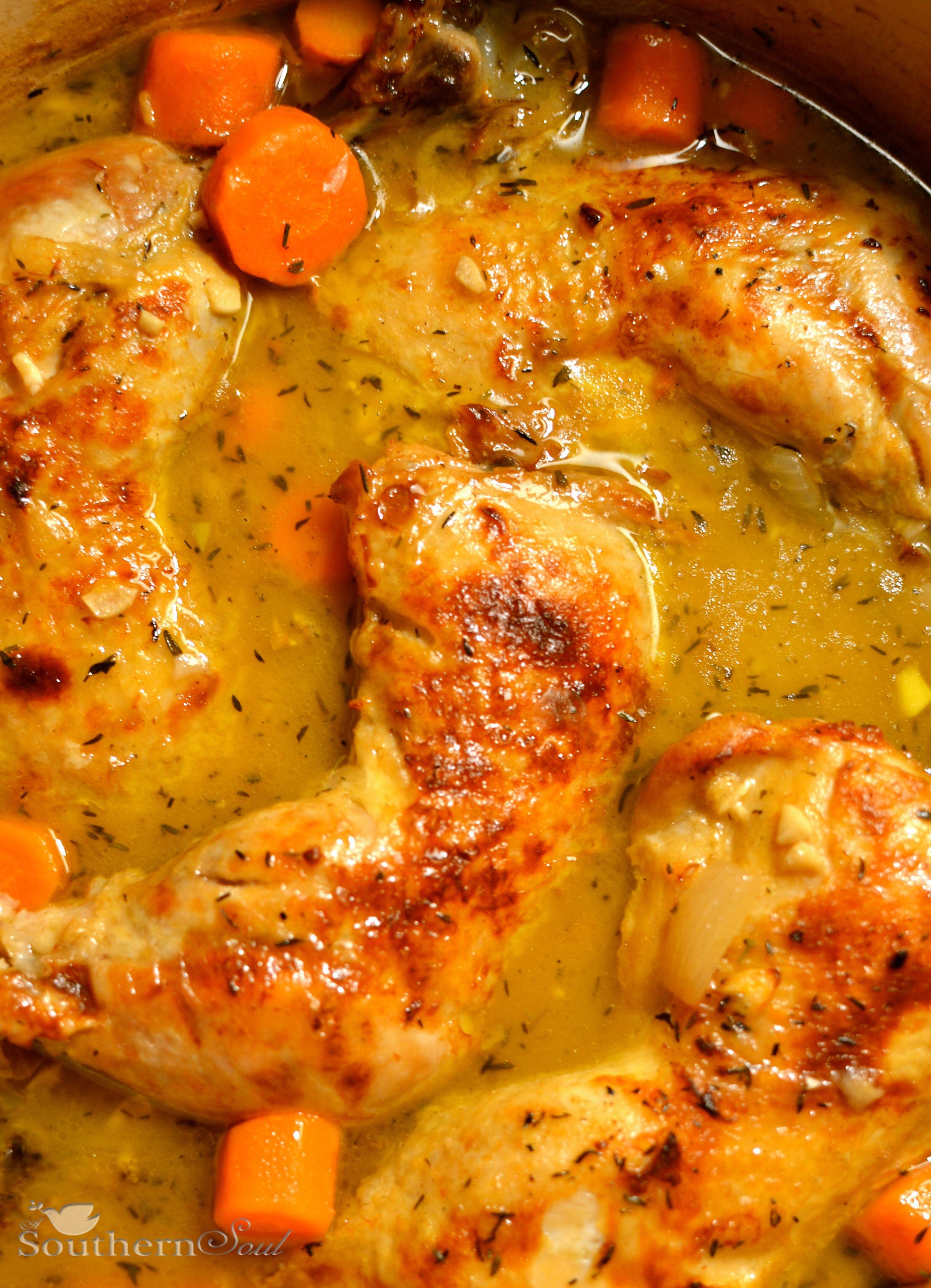 braised chicken thighs