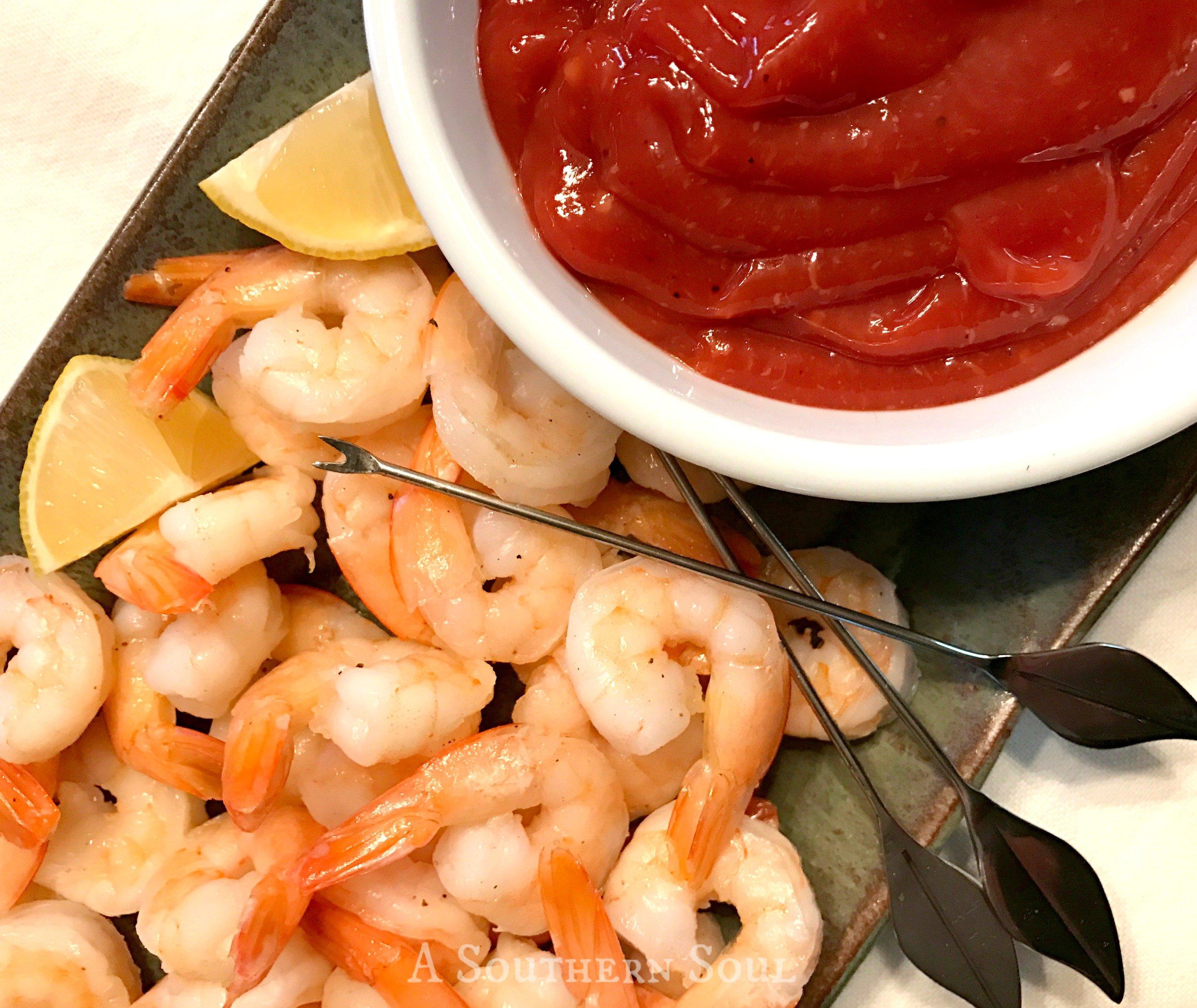 shrimp cocktail & homemade sauce