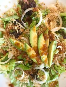 quinoa salad with greens